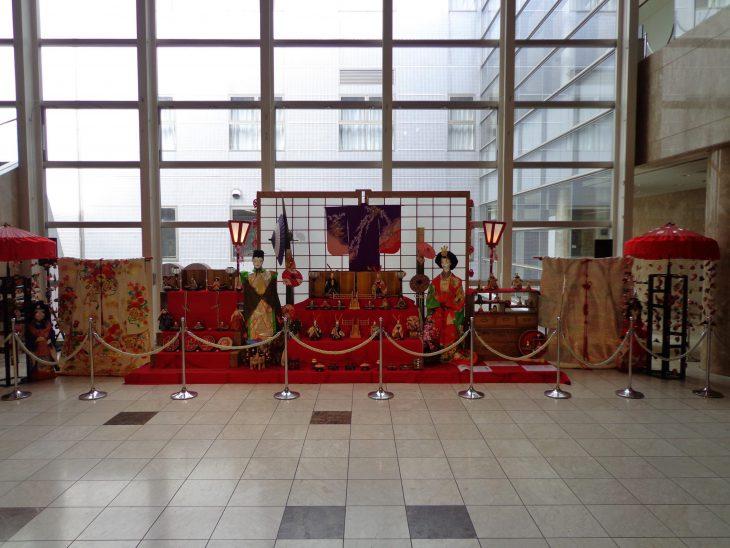 ロビー展示 ひな飾り2019年