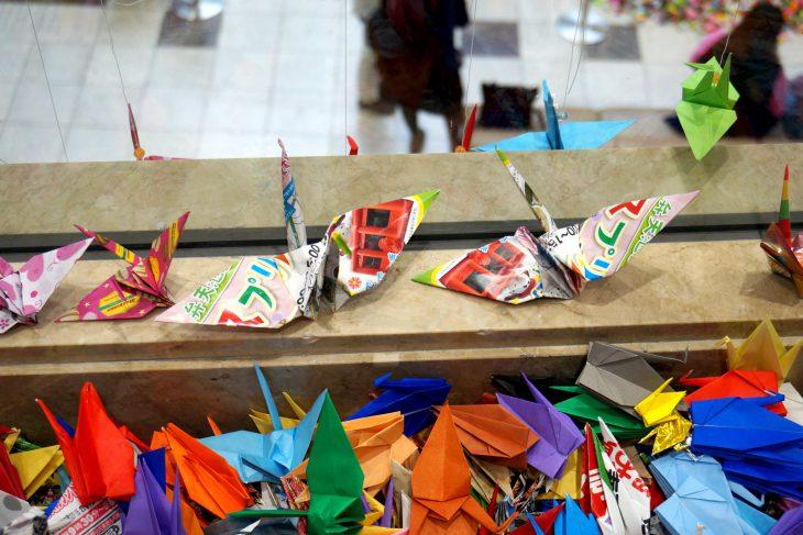 おうちde折り鶴、つないdeアート かどま折り鶴 12万羽プロジェクト